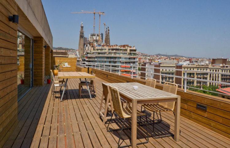 terraza de loft working